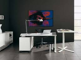 ... Home Decor White Modern Office Furniture Design Small Contemporary  Desks Idea Within Ideas Rare 100 Image ...