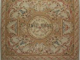 flat weave aubusson rugs oversized 11 8 x 14 beige field beige border authentic 100 new zealand wool french gc4aub144