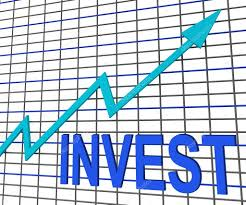 Chart Showing Increase Invest Chart Graph Shows Increase Investment Stock Photo