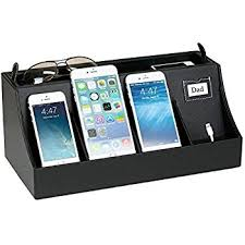 G.U.S. 4-Port USB Cell Phone Charging Station, Universal Charging Station  Organizer for Smart