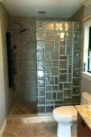 glass block shower wall interior design designs best ideas on blocks kits