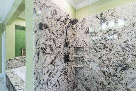 granite showers walls surrounds