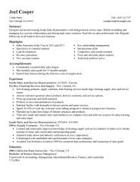 Inside Sales Representative Resume Template For Microsoft Word