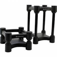 iso acoustics iso acoustics l8r130 isolation enhancing studio monitor stands pair