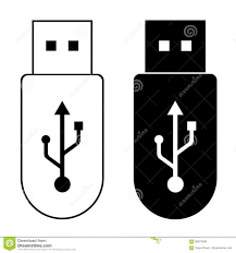 Flash Memory Design Flash Drive Template Memory Outline Icon And Black Design On