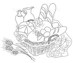 パン屋 パン トウモロコシ 小麦 手書き 朝食 黄色 オーガニックの画像