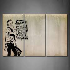 3 piece wall art painting cool girl looks arrogant print on canvas the picture people 4