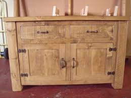 Rustic Kitchen Sideboard Rustic Plank 4ft 2 Drawer 2 Cupboard Sideboard With Rustic