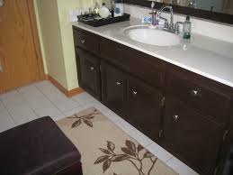 How To Paint Bathroom Cabinets Dark Brown painted bathroom ...