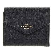 Amazon.com  COACH Women s Crossgrain Leather Small Wallet Li Black Wallets   Shoes