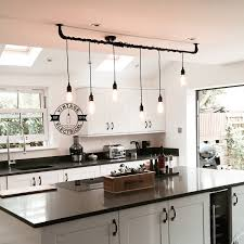 Retro Kitchen Lighting The Burnham 6 X Pendant Drop Light Hanging Lights Ceiling Dining