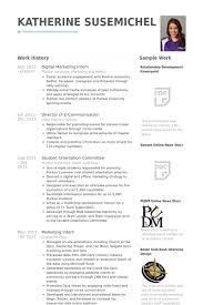 digital marketing intern resume samples online marketing resume sample