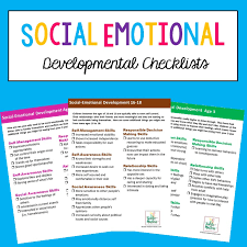 Social Emotional Growth Chart Social Emotional Developmental Checklists For Kids And Teens