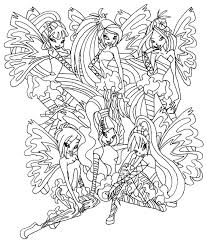 Winx Enchantix Coloring Free Download