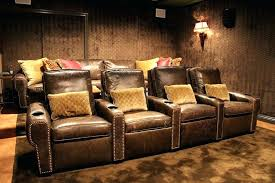 media room recliners faux leather theater seating home theater traditional with media room top side tables