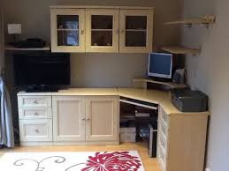home corner desk draws and wall units