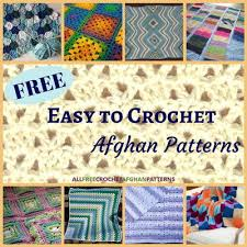 Easy Afghan Patterns Magnificent 48 Free Easy To Crochet Afghan Patterns