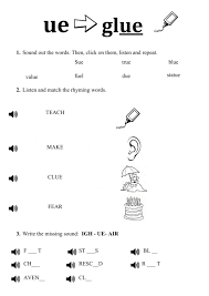 Check out our different sets of worksheets that help kids practice and learn phonics skills like beginning sounds, rhyming and more. Ue Worksheet