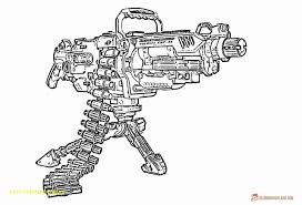 Weapon Gun Nerf Coloring Pages Print Coloring