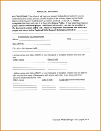 Affidavit Of Support Child Support Contract Template Beautiful Sample Affidavit Of 24
