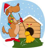 Image result for winter clip art WITH DOGS