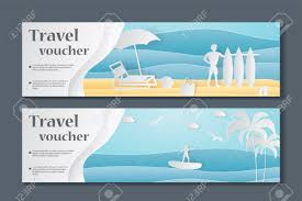 Cruise Gift Certificate Template Gift Voucher Template Paper Crafted Cutout World Concept Of