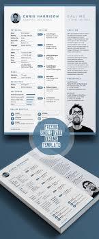 Free Single Page Resume Template Psd Free Psd Files Resume