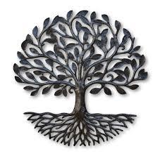 small living tree of life metal artwork