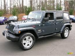 jeep wrangler 4 door blue