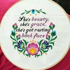 Shes Beauty Shes Grace Quote Best Of She's Beauty She's Grace Modern Cross Stitch Pattern By