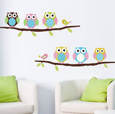 owl wall sticker for children room decor