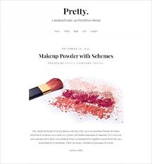 pretty make up artist responsive wordpress theme 58 free demo