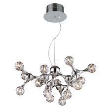 titan lighting molecular 15 light polished chrome ceiling mount chandelier