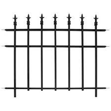 Black Metal Fence Amazoncom
