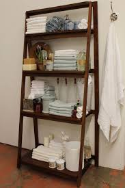 Scenic Towel Storage Ideas Using Ladder Shelf As Well As White Towel In  Vintage Bathroom Decors Ideas