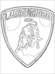 Small Picture Lamborghini Logo Coloring Pages For Kids Pinterest