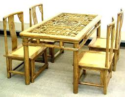 bamboo dining chairs. Bamboo Dining Set Kitchen Chairs Table Room Enchanting