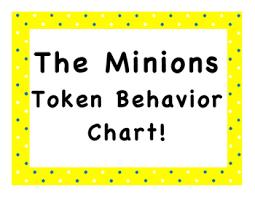 Minion Behavior Chart The Minions Token Behavior Chart