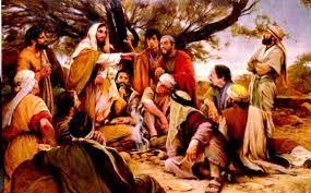 Image result for Yesus mengajar di tempat datar