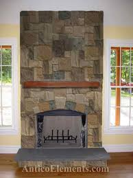 best 25 faux stone fireplaces ideas on rustic throughout faux stone for fireplace