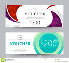 Gift Voucher Card Template Design For Special Time Coupon