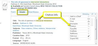 find msu theses diy research guide libguides at morehead state  details and citation info for search result