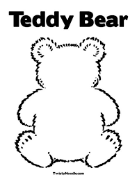 Small Picture Blank Teddy Bear Coloring Page Classroom Ideas Pinterest