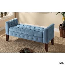 furniture amp accessories diy bedroom bench with tufted seat blue