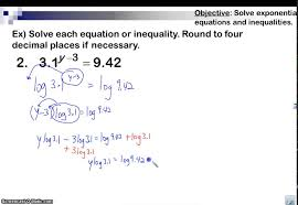 using common logarithms to solve exponential equations