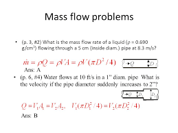 mass flow problems ans a