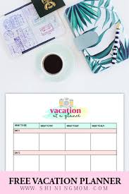 Free Travel Planner 15 Free Trip Planner Printables For Your Next Vacation