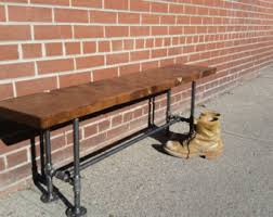 steel pipe furniture. rustic industrial pipe and wood bench entryway steel furniture