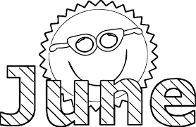summer sun june coloring page wecoloringpage