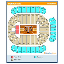Reed Arena Seating Chart Texas A M University Reed Arena Events And Concerts In